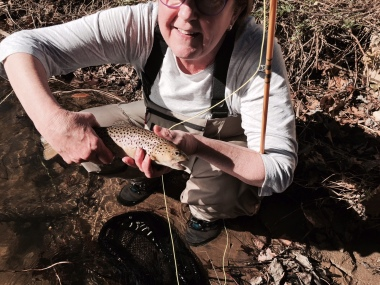 My slippery, sweet, spotted, fat little brown trout. Happy Birthday to me!