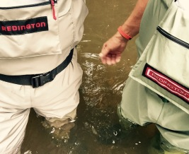 New waders! My first time in the water with Tim!
